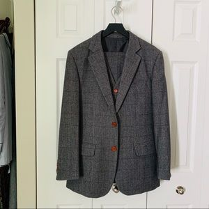 Other - British Grey Plaid Warm Wool Winter Suit (40R)